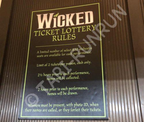 WICKEDの当日抽選のルール