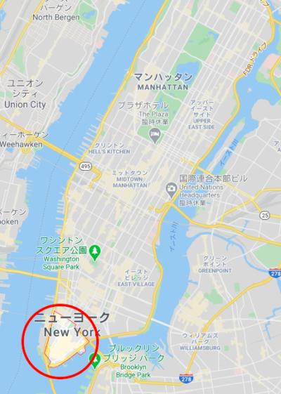 ニューヨークのウォール街エリア