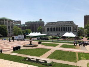 コロンビア大学の広場