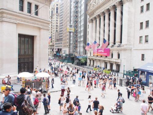 ウォール街の街並み