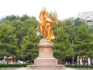 セントラルパークにある銅像
