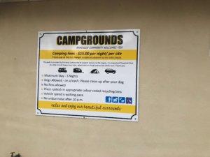 キャンプ場の注意