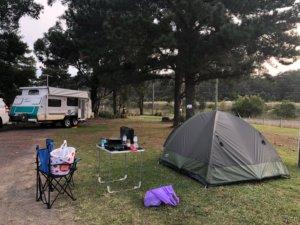 ゴルフ場キャンプ